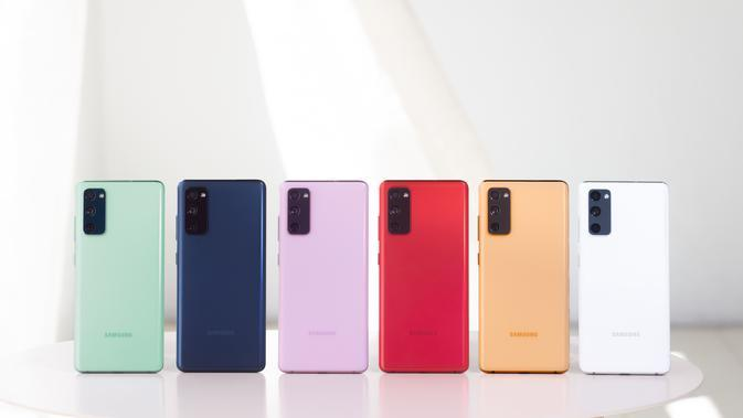 Galaxy S20 Fan Edition (FE) dirilis dalam 6 pilihan warna (Foto: Samsung Indonesia)