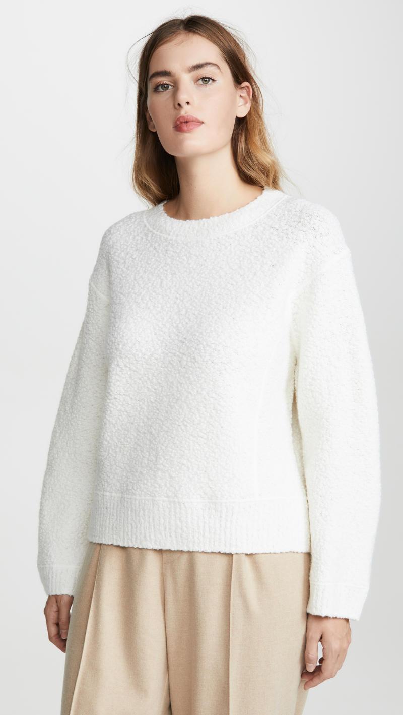 Vince Texture Boucle Crew Neck Sweater