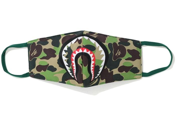 BAPE ABC Camo Shark Mask (SS20) Green