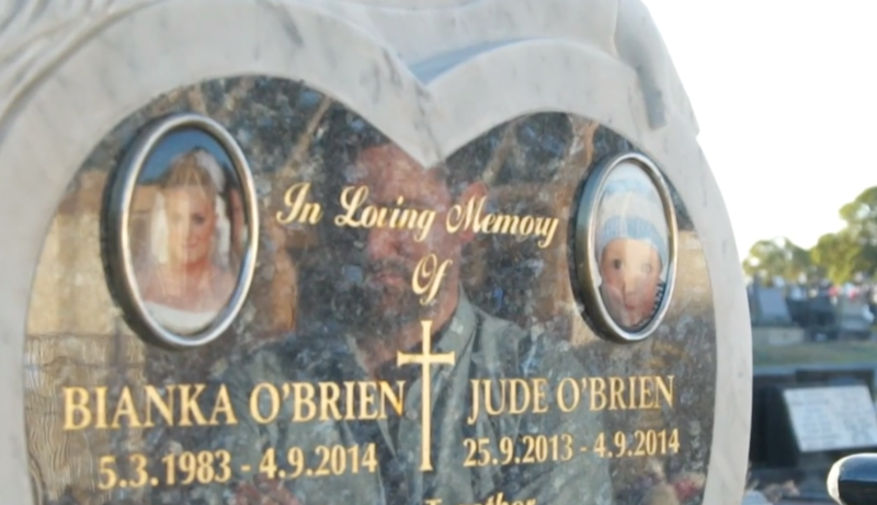 John O'Brien lost his wife and son in a deliberately-lit fire, just days before what should have been his first Father's Day. Source: A Current Affair.