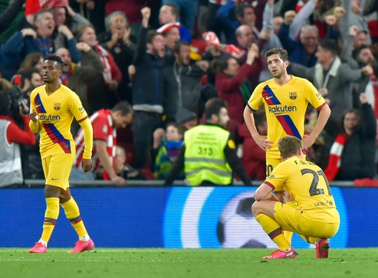 Barcelona crashed out of the Copa del Rey on Thursday after losing 1-0 away at Athletic Bilbao