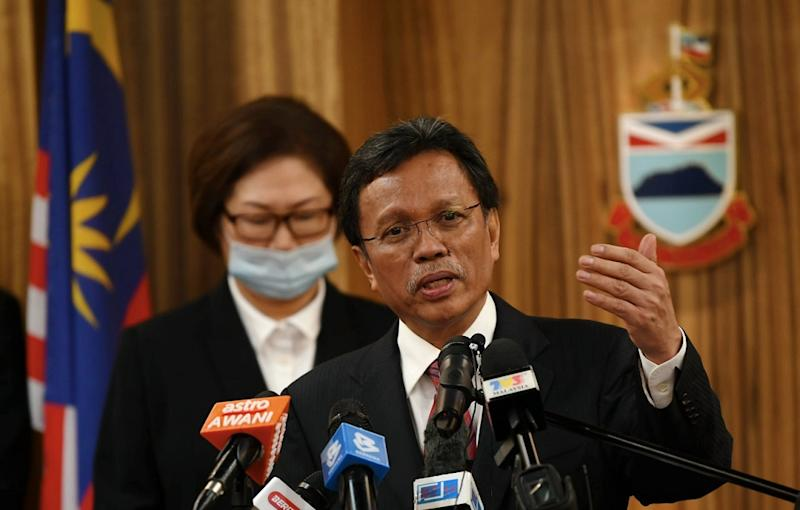 Chief Minister Datuk Seri Mohd Shafie Apdal announced today that the state is opening its air, land and sea borders to Chinese nationals. — Bernama pic