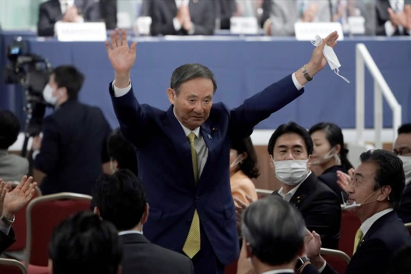 Japan's Suga wins party leadership race, headed for premiership