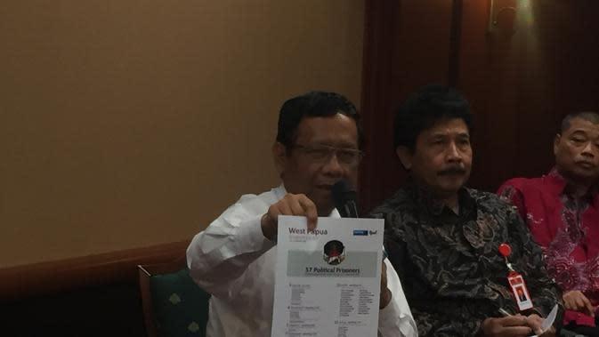 Mahfud Md Cek Data Tahanan Politik di Papua dari Veronica Koman ke Polisi
