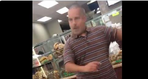 New York bagel store tantrum man. Source: Olivia Bradley / Twitter