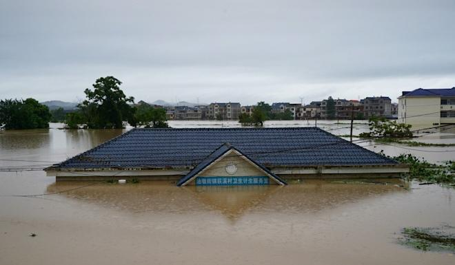 Many parts of Jiangxi have been inundated. Photo: Tom Wang