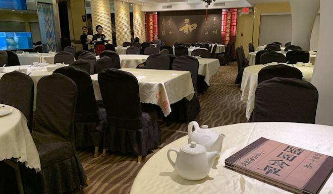 Yuan's Garden, a usually busy Chinese restaurant in Richmond, at about 6pm on February 28. Many ethnic Chinese residents of BC embraced social distancing long before the rest of the province. Photo: Ian Young