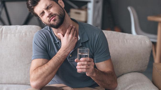 Ilustrasi sakit tenggorokan (sumber: iStock)