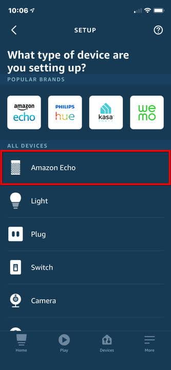Amazon Alexa iPhone Select Echo
