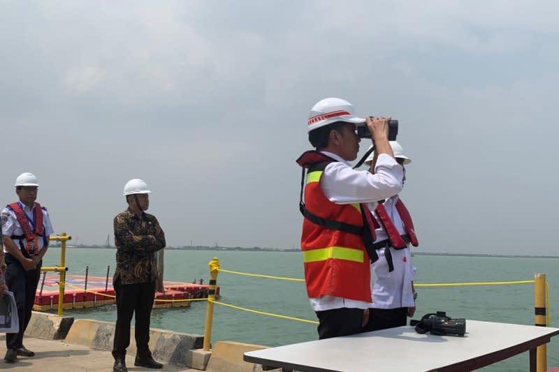 Presiden Jokowi mengaku terbiasa terjebak macet