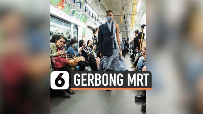 VIDEO: Fashion Show di Gerbong MRT Tuai Komplain Penumpang
