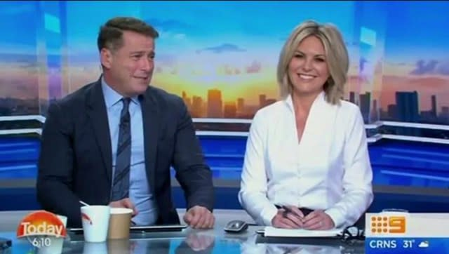 Karl hosted Today for his final year alongside current anchor Georgie Gardner. Photo: Channel Nine