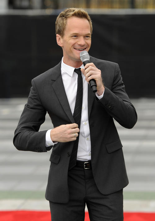 Neil Patrick Harris, host of Sunday's 65th Emmy Awards telecast, addresses reporters during Emmy Awards Press Preview Day, on Wednesday, Sept. 18, 2013, in Los Angeles. (Photo by Chris Pizzello/Invision/AP)