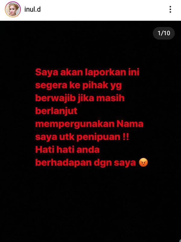 Unggahan Inul Daratista. (Foto: Instagram @inul.d)