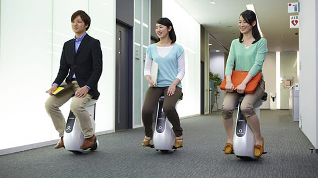 Honda creates a butt-steered Segway with the Uni-Cub rolling stool