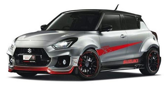 Mejeng di Tokyo Auto Salon 2020, Suzuki Swift Sport Katana Tampil Garang