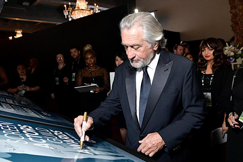 Marking his mark at the SAGs: Robert De Niro (Getty Images for Turner)