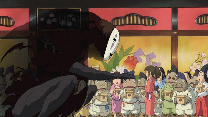 Anime Jepang Spirited Away. (Studio Ghibli)