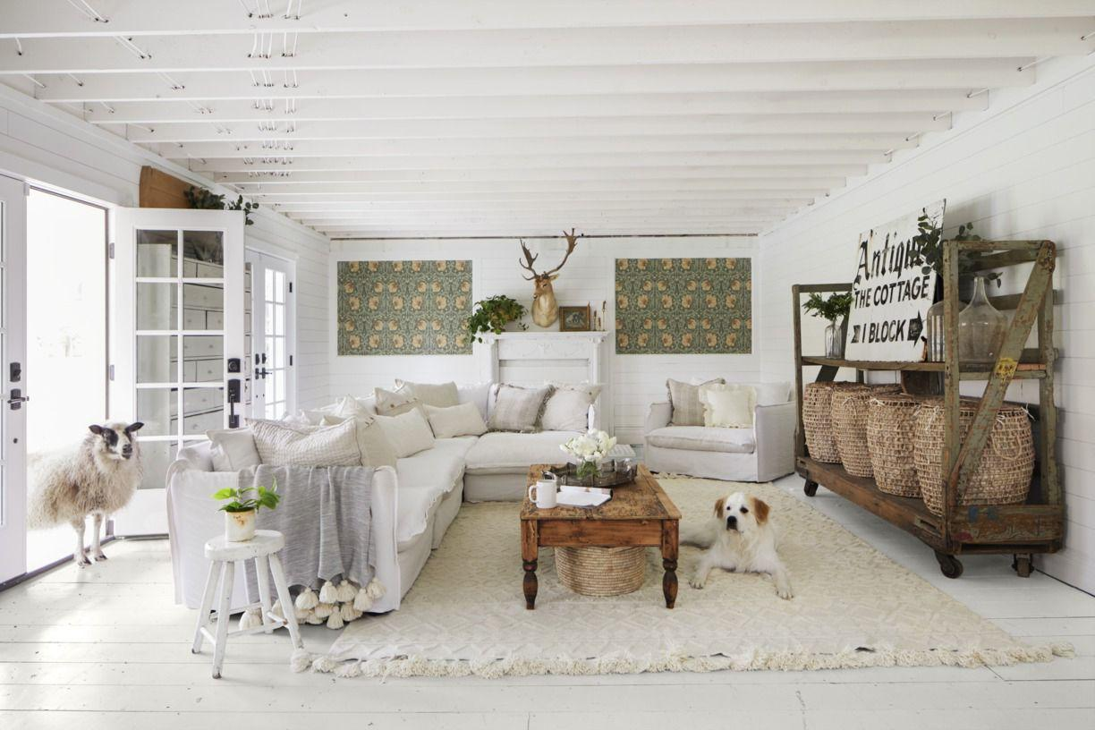 """<p>There are so many ways to add personality to your home. A statement-making <a href=""""https://www.countryliving.com/home-design/decorating-ideas/g29460882/accent-wall-ideas/"""" target=""""_blank"""">accent wall</a> can truly transform a room from blah to beautiful. <a href=""""https://www.countryliving.com/home-design/decorating-ideas/a30210881/how-to-paint-furniture/"""" target=""""_blank"""">Painted furniture</a> brings color and a certain charm that plain wooden pieces lack. If you're looking for other ways to add more color to a space, look down. Yep, those beat-up old floors can become a great big blank canvas.<br></p><p>You've likely tackled a paint project at some point. Whether you've schooled yourself on <a href=""""https://www.countryliving.com/home-design/color/a30284538/how-to-paint-a-room/"""" target=""""_blank"""">how to paint a room</a> or tried your hand at <a href=""""https://www.countryliving.com/home-design/decorating-ideas/a30212127/how-to-paint-kitchen-cabinets/"""" target=""""_blank"""">painting kitchen cabinets</a>, you probably <em>haven't</em> painted a floor. (Although if you've <a href=""""https://www.countryliving.com/home-design/decorating-ideas/g26102363/painted-stairs/"""" target=""""_blank"""">painted stairs</a>, you're already a step ahead.)</p><p>First, consider your supplies. If you think you can paint floors with regular wall paint, you're sadly mistaken. Paint manufacturers offer super durable porch and floor paint products and sealers that will keep your painted floors, well, painted. And if you're planning a floor-to-ceiling paint party, paint your floors <em>after</em> you paint everything else. You don't want drips from the ceiling and walls messing up your masterpiece underfoot.</p><p>So how much will this character cost you? Not much! Aside from the cost of paint and supplies, you really just need to invest some good ol' sweat equity. Be warned: Painted floors do require a little maintenance. If you want to keep them looking pristine, expect to repaint them every year or two. T"""