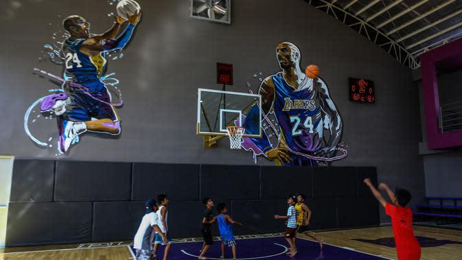 Arena basket The House of Kobe di Filipina diresmikan hanya 12 jam sebelum kematian Kobe Bryant (AFP/Maria Tan)
