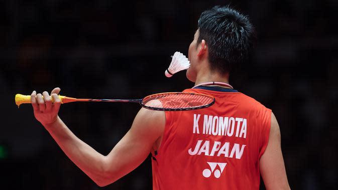 Pebulutangkis Jepang, Kento Momota. (AFP/Stringer)