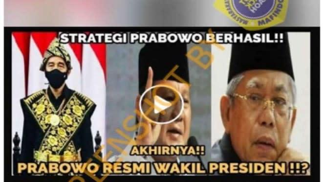 Hoax Prabowo jadi wakil presiden