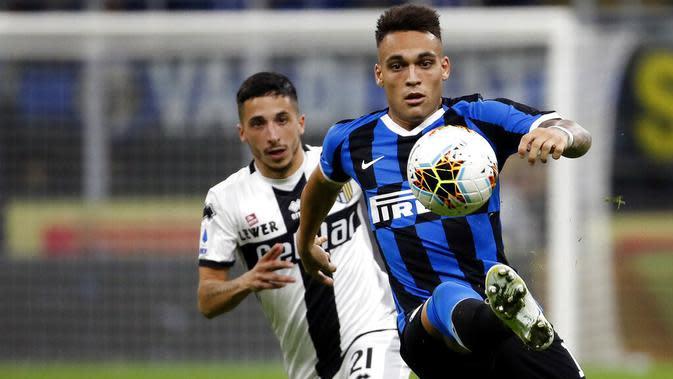 7. Lautaro Martinez (Inter Milan) - 8 Gol 2 Penalti.(AP/Antonio Calanni)