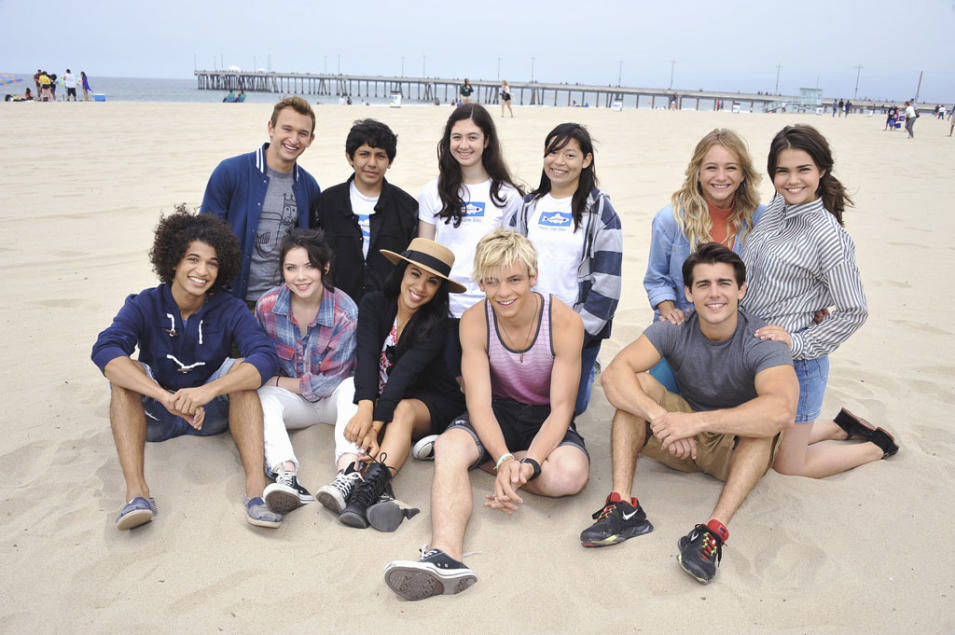 """Teen Beach Movie"" - Jordan Fisher, Kent Boyd, Grace Phipps, Alberto Sanchez, Chrissie Fit, Zola Berger-Schmitz, Ross Lynch, Grecia Ramirez, Mollee Gray, John Deluca, Maia Mitchell"