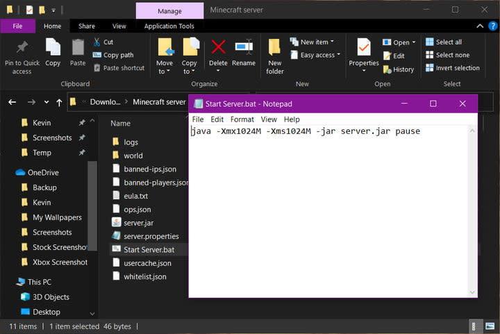 Minecraft Server Create Batch File