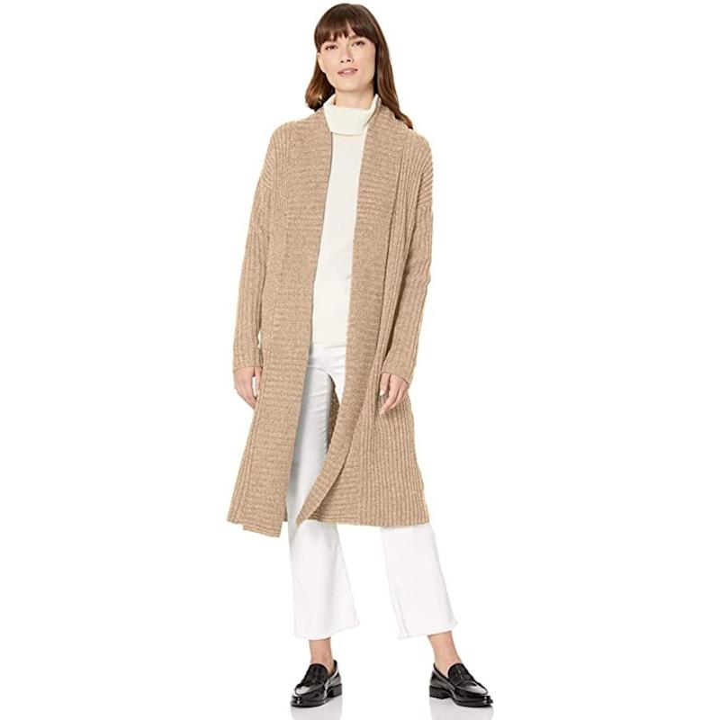 Amazon Essentials Women's Standard Sweater Coat is on sale during Prime Day 2020.