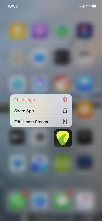 Editing iPhone Home screen