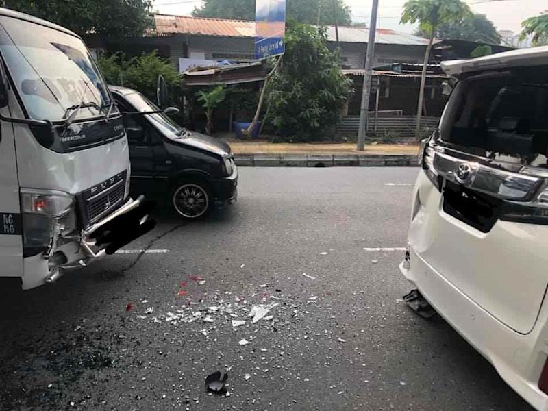 The collision occurred around 5pm as Ng was driving from Penang International Airport to his office. — Picture from Facebook/kok.how1