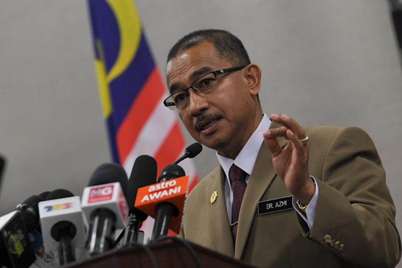 Deputy Health Minister Datuk Dr Noor Azmi Ghazali speaks during a press conference at the Parliament building in Kuala Lumpur July 22, 2020. — Bernama pic