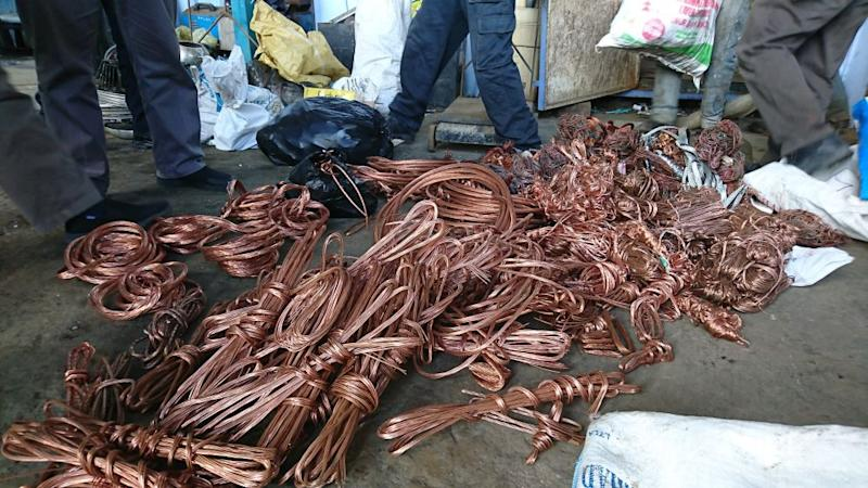 Stolen copper cables recovered by Sarawak Energy Berhad, January 12, 2019. ― Picture courtesy of Sarawak Energy Berhad