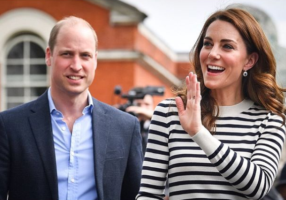 Prince William and Kate Middleton wave to fans