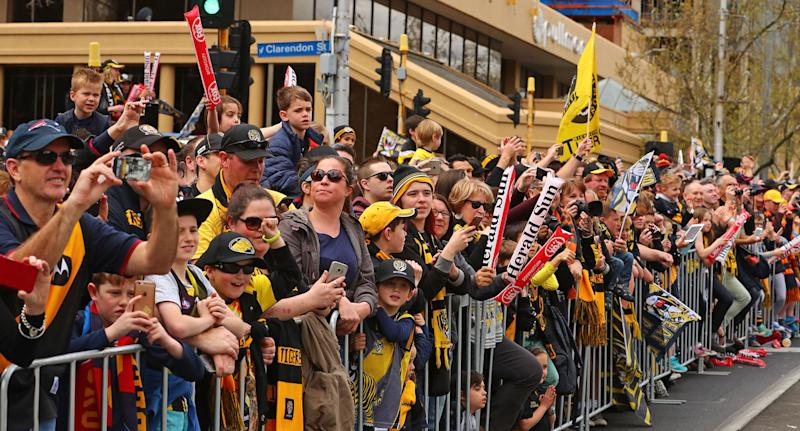 Children will be on school holidays for the 2018 AFL Grand Final Parade.