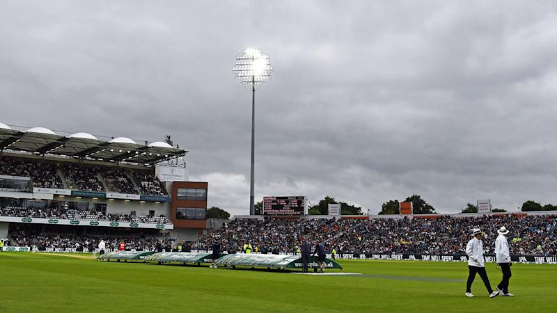 The opening day at Headingley, pictured here, was marred by rain and bad light.