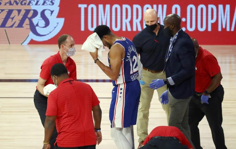Sixers forward Harris hurt in scary NBA playoff fall