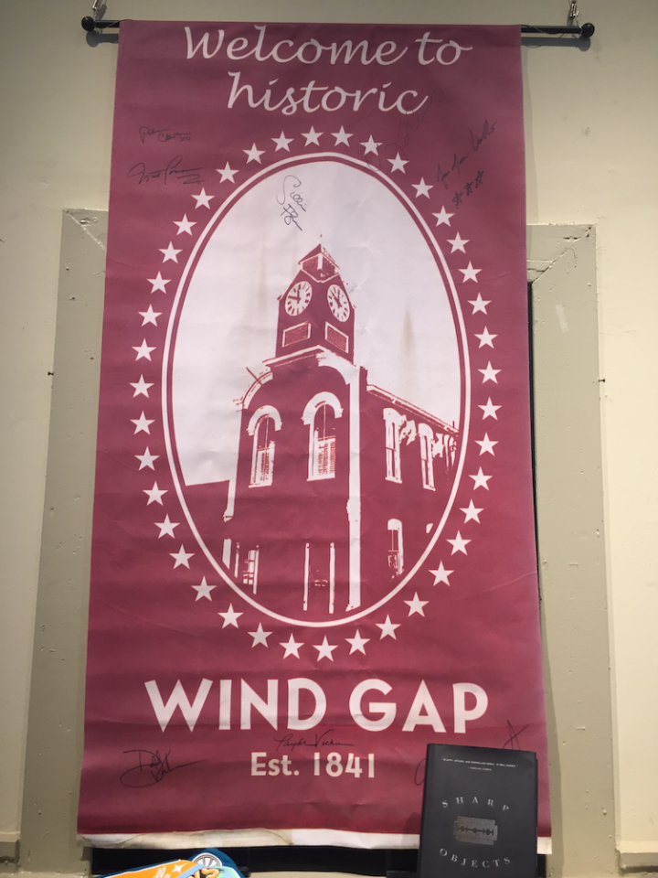 <p>The banners along the main road of Barnesville were replicated and replaced now saying Wind Gap instead. Photo: Yahoo Lifestyle </p>