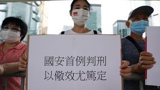 香港特首林鄭月娥在施政報告中為國安法辯護