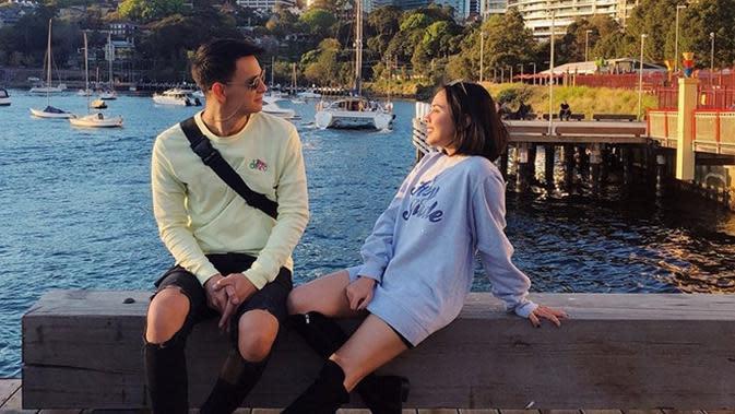 Kebersamaan Marcell dan Nabila Faisal. (Sumber: Instagram/@fastynabila)
