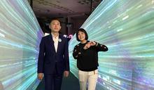 林智堅搶先參觀台灣設計展 體驗創新科技(2) (圖)