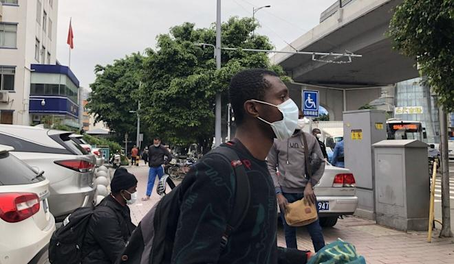 Nigerian Henry Odini says he is struggling to find somewhere to stay in Guangzhou. Photo: Guo Rui