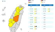 雨勢升級!雙北等10縣市豪大雨特報