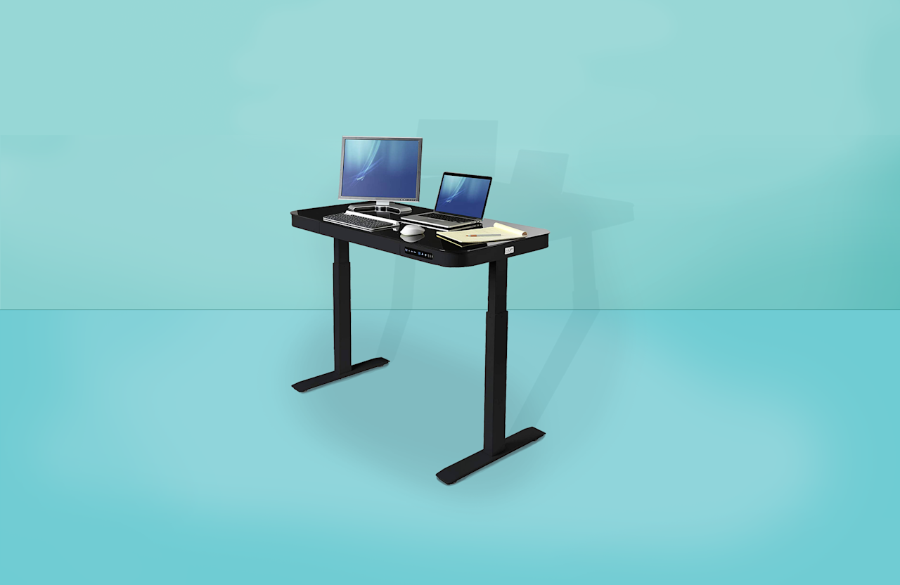 "<p>Standing desks can be key to <a href=""https://www.goodhousekeeping.com/health/a32466221/correct-sitting-posture/"" target=""_blank"">improving poor desk posture</a> and mitigating <a href=""https://www.goodhousekeeping.com/health-products/g32579213/best-posture-correctors/"" target=""_blank"">chronic body pain associated with sitting</a> during the day. But people may not be aware that standing desks may also help add to your <a href=""https://www.sciencedirect.com/science/article/abs/pii/S0003687019300304?via%3Dihub"" target=""_blank"">fitness abilities over time</a>, and more importantly, keep you more energized and focused throughout the entire workday. And you don't even need to be standing continuously from 9 to 5 — in fact, the best strategy for optimal results might be frequently transitioning between standing and sitting throughout your day, says <a href=""https://www.nwhealth.edu/clinics/sweere-clinic/staff/chad-henriksen/"" target=""_blank""><strong>Chad Henriksen, M.D.</strong></a>, the director of <a href=""https://www.worksiteright.com/"" target=""_blank"">WorkSiteRight</a> at Northwestern Health Sciences University.</p><p>""Experts have known for some time that increasing <a href=""https://pubmed.ncbi.nlm.nih.gov/26693809/"" target=""_blank"">low-level activity provides health benefits</a> compared to sitting for a prolonged time in a fixed position,"" Dr. Henriksen explains. ""Alternating between [sitting and standing] balances the negative effects of either standing or sitting throughout the entire workday."" <a href=""https://pubmed.ncbi.nlm.nih.gov/24157240/"" target=""_blank"">Published research is conflicted</a> on how standing desks improve <a href=""https://www.goodhousekeeping.com/life/a30987069/how-to-be-more-productive/"" target=""_blank"">your focus and productivity throughout the day</a>, and how often you need to stand to reap any benefits; <a href=""https://www.tandfonline.com/doi/abs/10.1080/21577323.2016.1183534"" target=""_blank"">but a 2016 case study</a> discovered some <em>immediate</em> reported benefits from those at a desk during the workday. The best productivity boost was enjoyed by those who frequently alternated in sitting and standing throughout the day, with <strong>a reported 50% boost</strong> in productivity in six months. </p><p>If you're feeling <em>less</em> productive <a href=""https://www.goodhousekeeping.com/life/career/a31436581/working-from-home-tips/"" target=""_blank"">while working at home</a> and think <a href=""https://www.goodhousekeeping.com/home-products/g32460529/home-office-essentials/"" target=""_blank"">your current work set-up</a> has something to do with it, a standing desk (or a standing desk adapter) may help you. ""I recommend sitting for no longer than 20-30 minutes,"" Dr. Henriksen says, adding that those with serious injuries or health concerns should discuss a standing desk with their doctor first. You should also be implementing ""micro-break"" stretching and movement while at home, he explains.</p><p>With the help of <strong><a href=""https://www.goodhousekeeping.com/author/1470/rachel-rothman/"" target=""_blank"">Rachel Rothman</a></strong>, Chief Technologist and Director of Engineering in <a href=""https://www.goodhousekeeping.com/institute/about-the-institute/a19748212/good-housekeeping-institute-product-reviews/"" target=""_blank"">the Good Housekeeping Institute</a>, and <strong><a href=""https://www.goodhousekeeping.com/author/224673/stefani-sassos/"" target=""_blank"">Stefani Sassos, MS, RD</a>,</strong> GHI's registered dietitian and NCCPT-certified personal trainer, we're sharing the best standing desks on the market today. We've tested and reviewed expert-approved standing desks that are fully customizable, including options at multiple price-points, sizes, and convenience for any space you have in mind. Shop the best performing standing desks and top-selling models below.</p>"