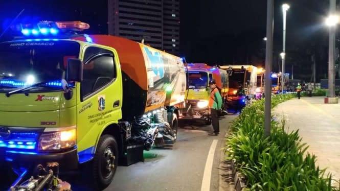 Pemprov DKI: Demo Omnibus Law di Jakarta Hasilkan 398 Ton Sampah