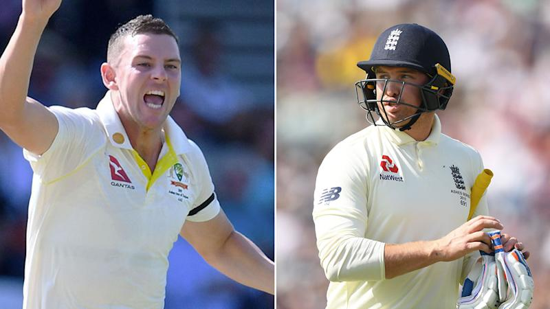 Josh Hazlewood snared the wicket of Jason Roy in the first innings at Headingley.