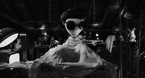 """This film image released by Disney shows Victor Frankenstein, voiced by Charlie Tahan in a scene from """"Frankenweenie."""" (AP Photo/Disney)"""