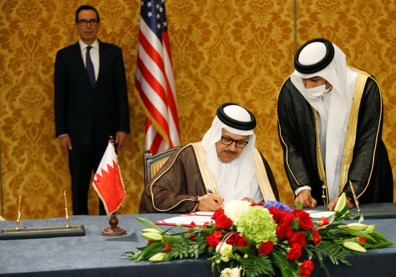 Israel, Bahrain formalise ties at ceremony attended by U.S. officials