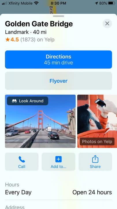 Look Around iOS 13